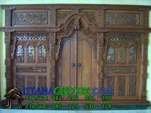 Harga Gebyok Jati Ukuran 4 Meter, Istana Gebyok