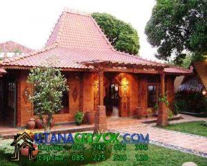 Jual Rumah Joglo Fariasi Tembok Modern, Harga Rmah Joglo 2018