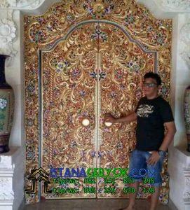 Jual Pintu Gebyok Gapura Finishing Antik
