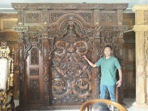 Gebyok Ukir Relief Naga 300x270cm